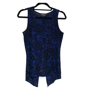 Black and Blue Paisley Tank